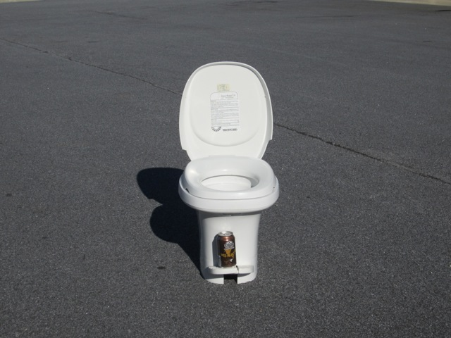 Toilet: 10 lbs (will be replaced with a composting toilet)