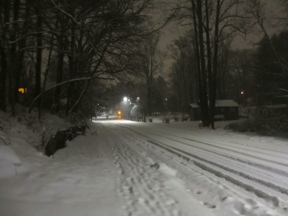 Our street quiet, peaceful, carless and full of SNOW!