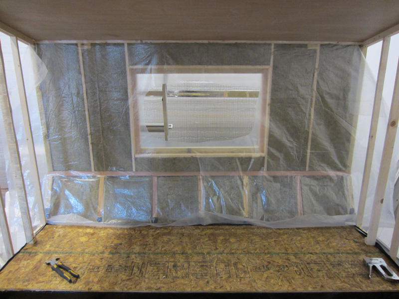 Insulating Walls From The Inside : Insulating the bedroom walls — live small ride free