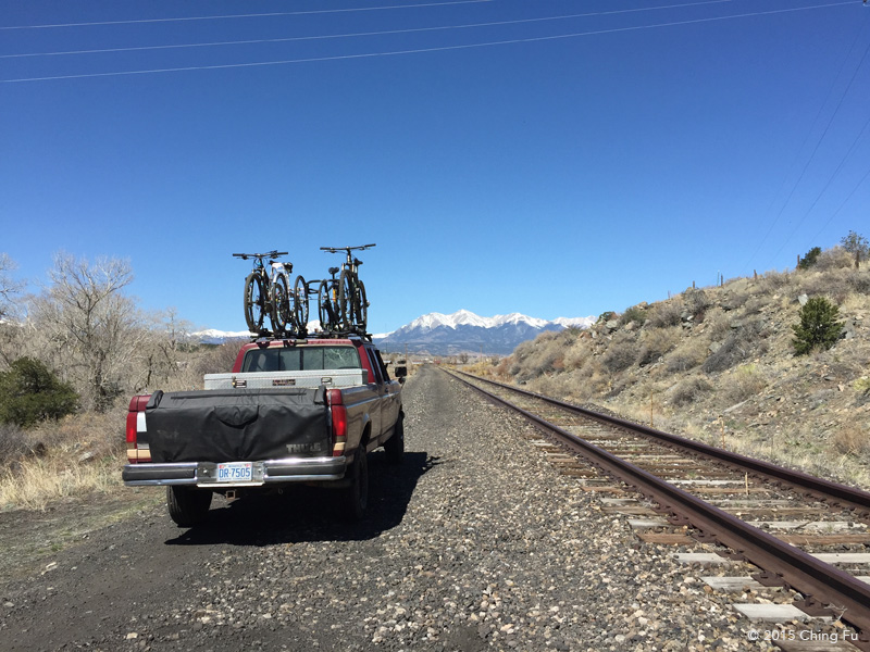 You can drive next to the abandoned tracks along the arkansas river in the arkansas river recreation area to get to a hiking trail across from Salida East.