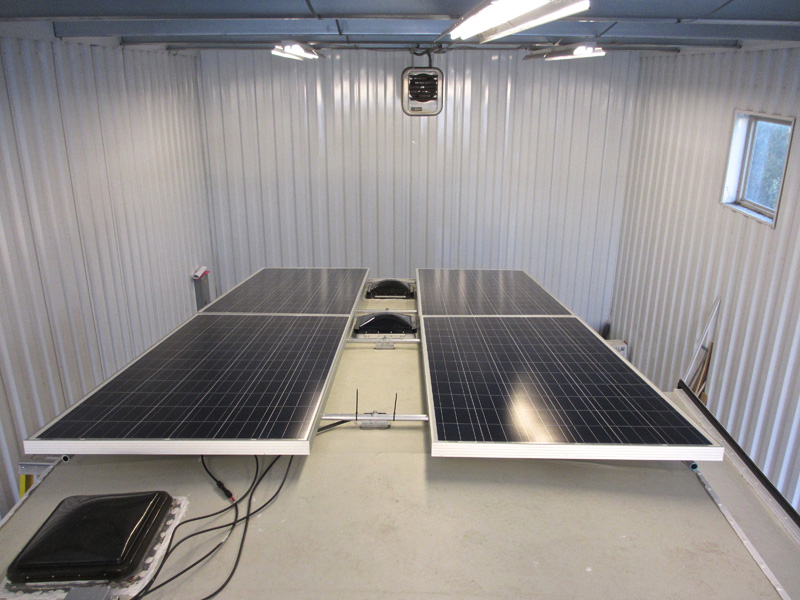 Panels installed to rack