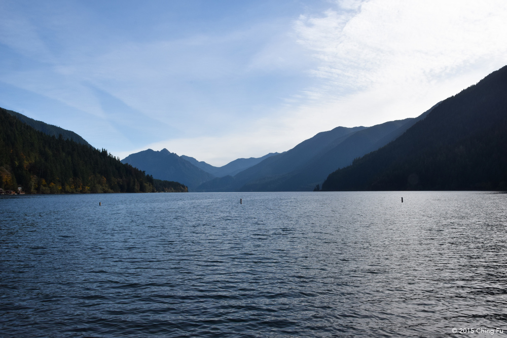Lake Crescent view from Fairholme boat launch.