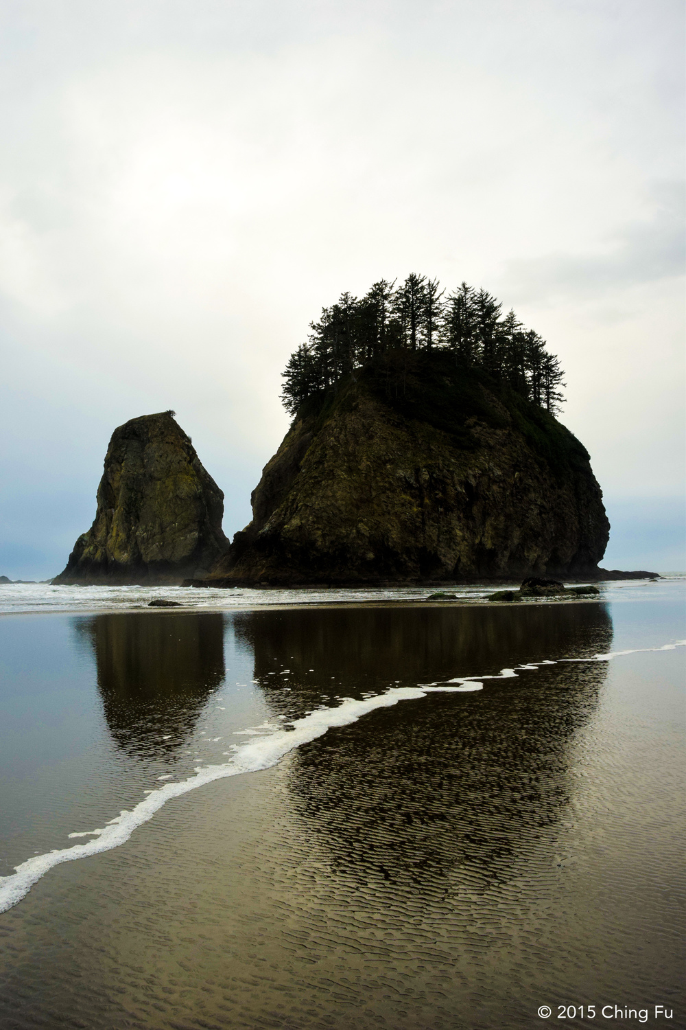 Sea stacks at Second Beach.