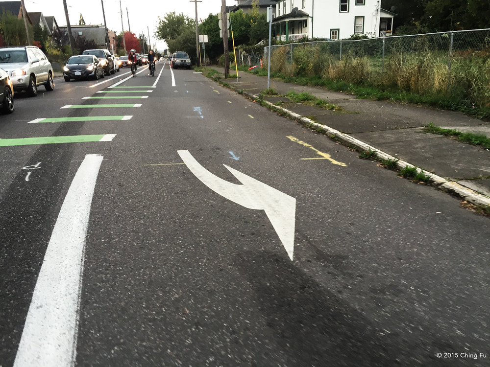 Portland bike lane.