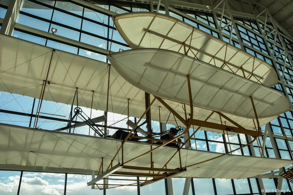 A replica of the Wright's brother's plane.