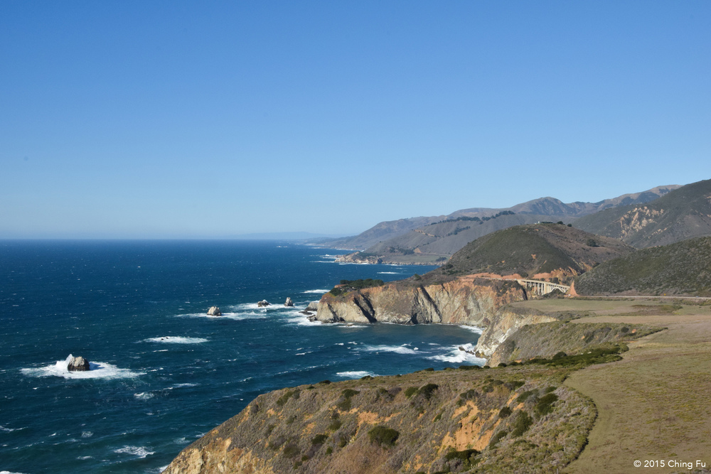 View of Hwy 1 coastline.
