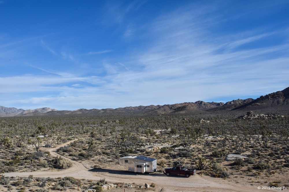 Boondocking out in Mojave National Preserve.