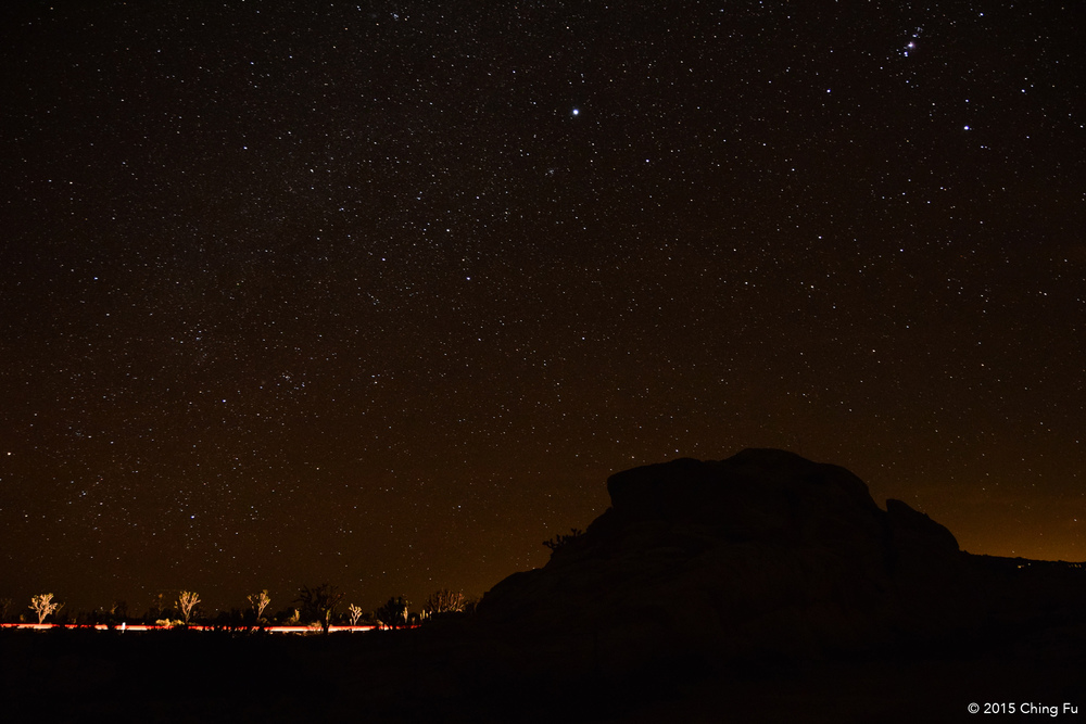 Night sky in Mojave.