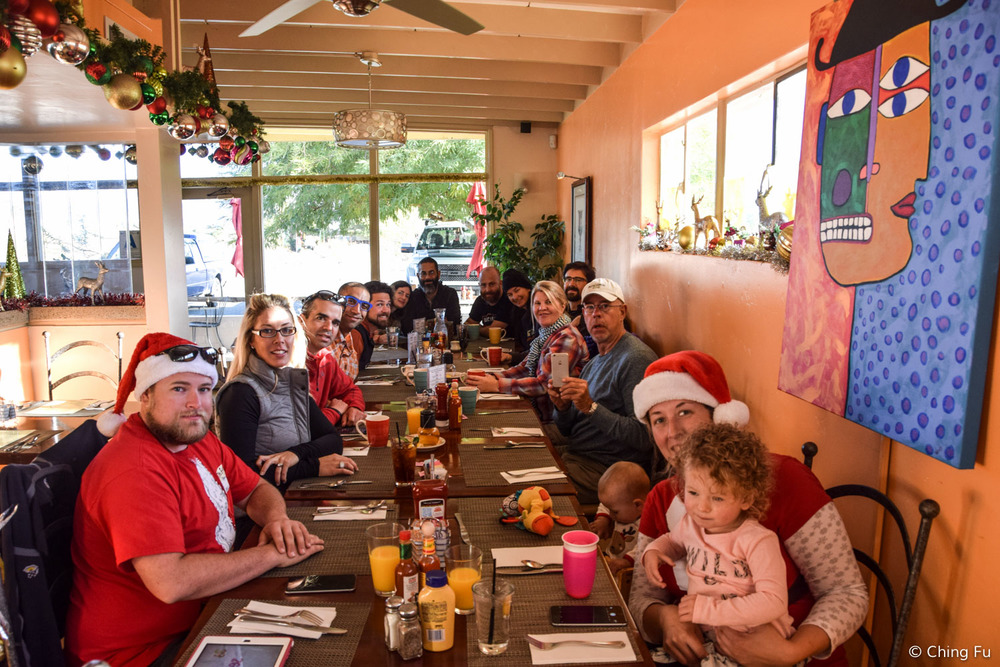 Christmas breakfast with the early group that was at Borrego Springs.