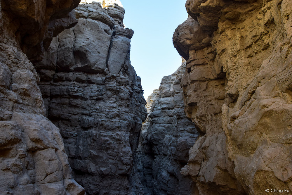 View from inside the canyon.