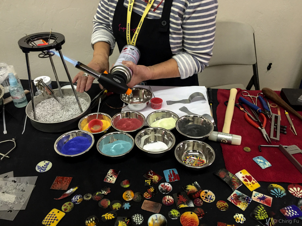 A jewelry making demonstration.