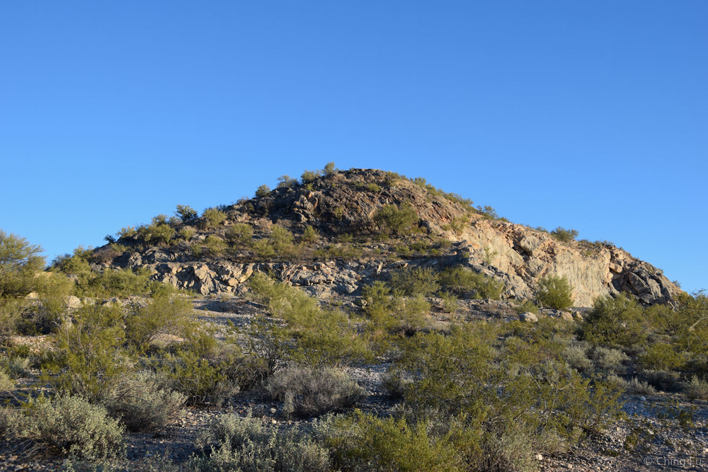 The hill that the boondocking site is named after.