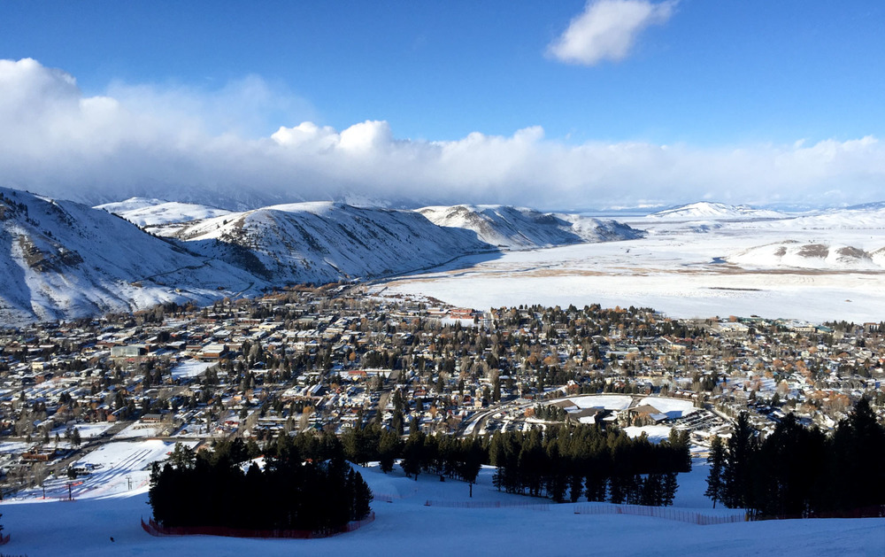 View of Jackson from Snow King Ski Resort. Photo by William.