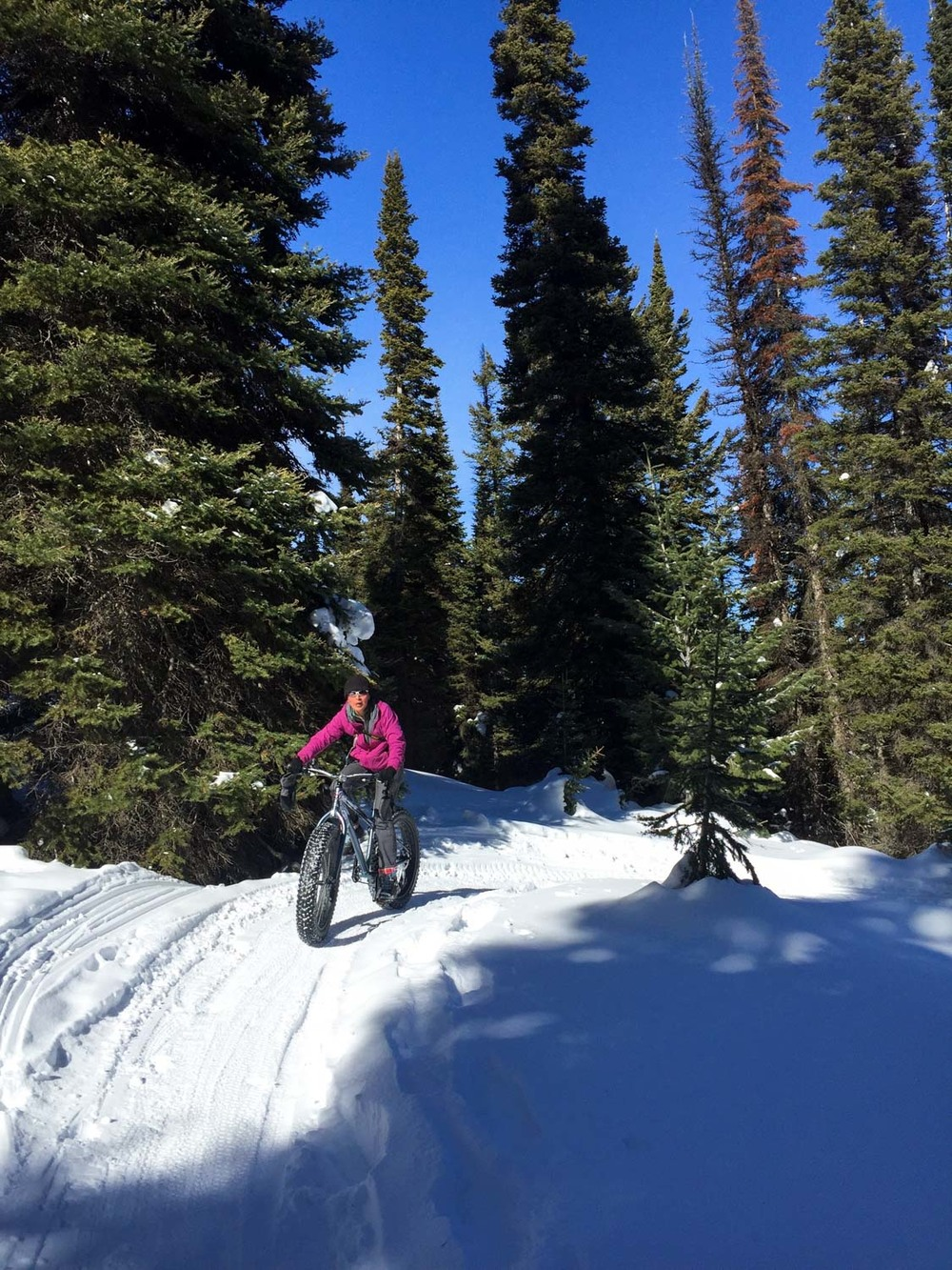 Ching fat biking.