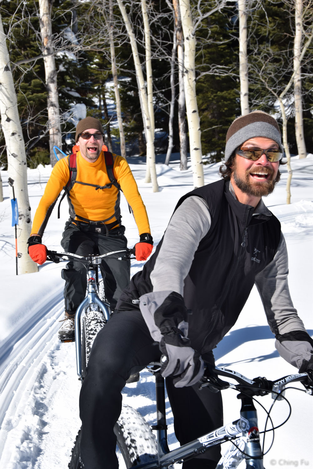 Jerud and Kevin fat biking.