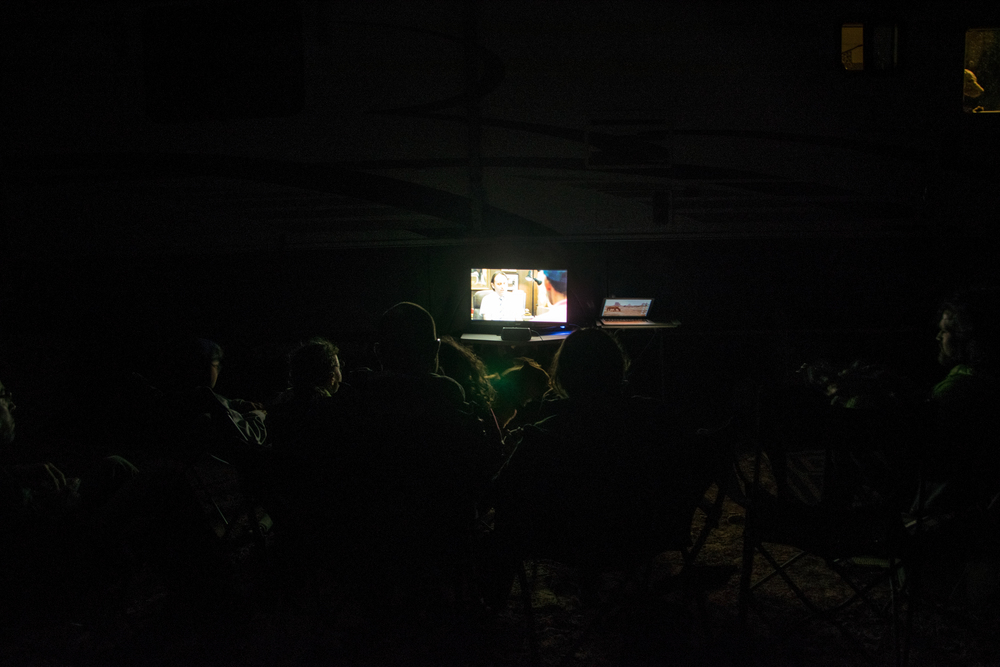 Outdoor movie night.