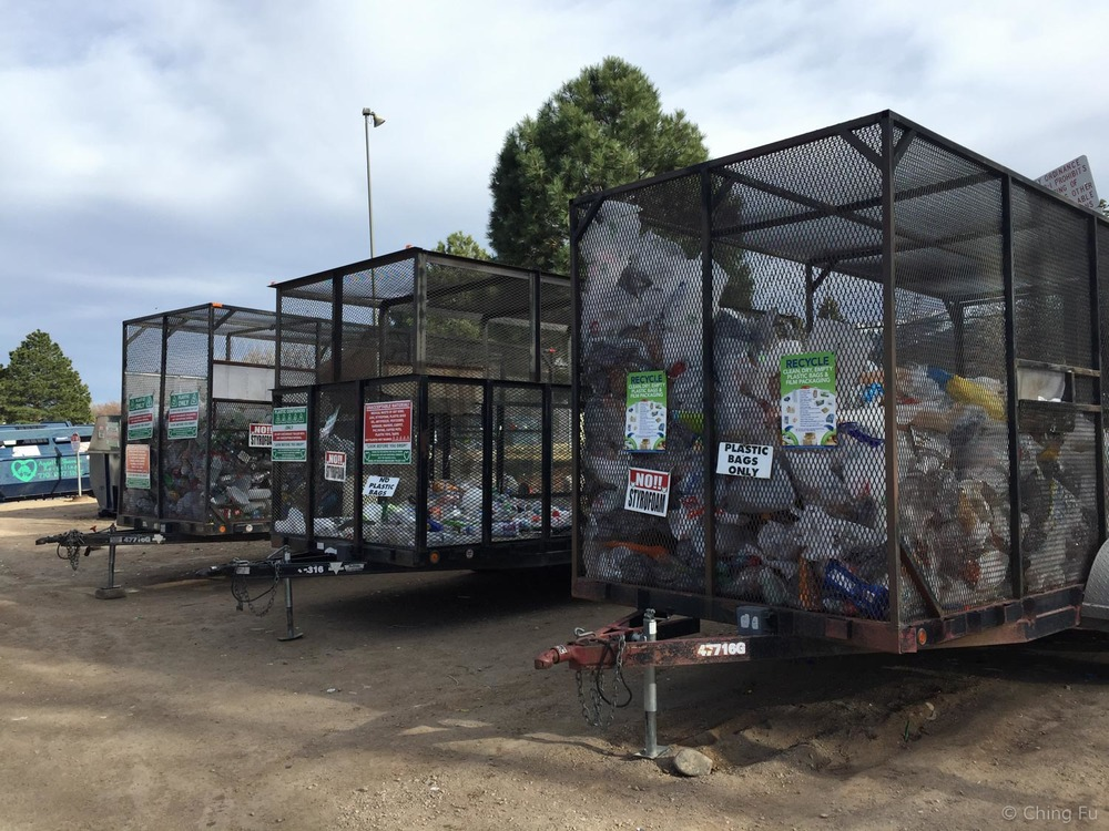 Recycling center in Salida, CO.