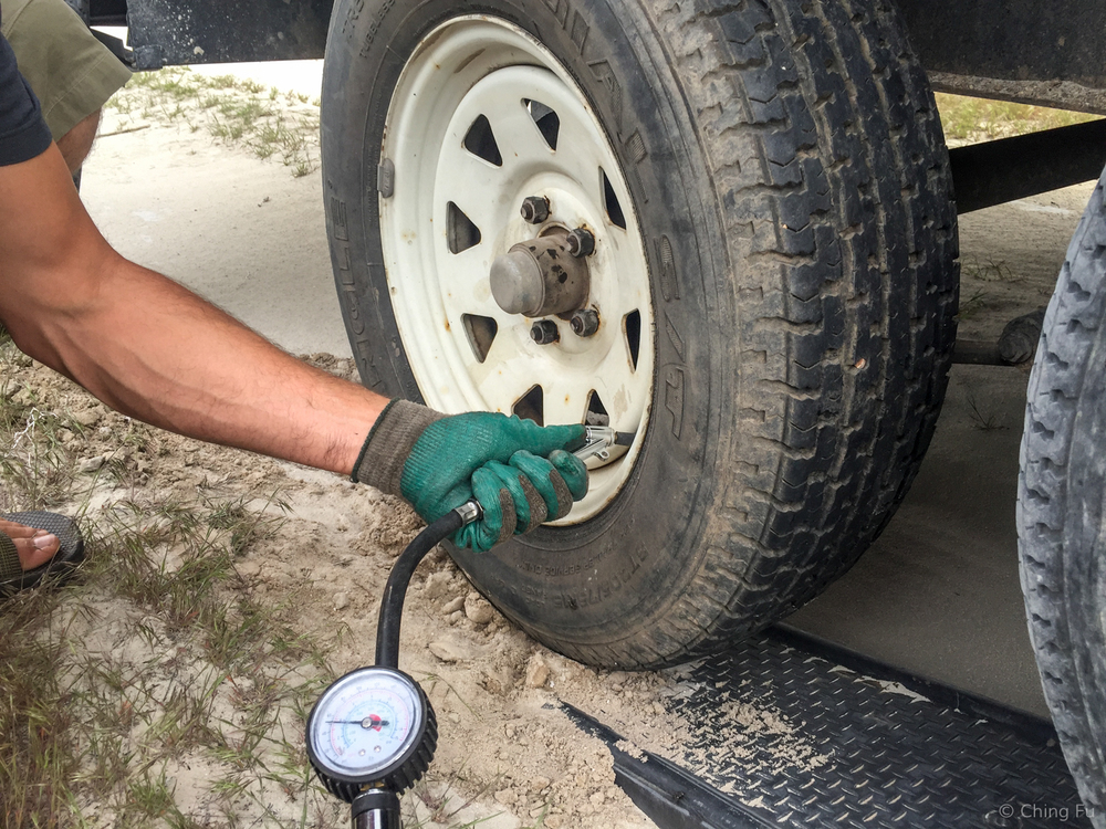 Step #15: Double check the air pressure in the newly installed tire along with your other tires.