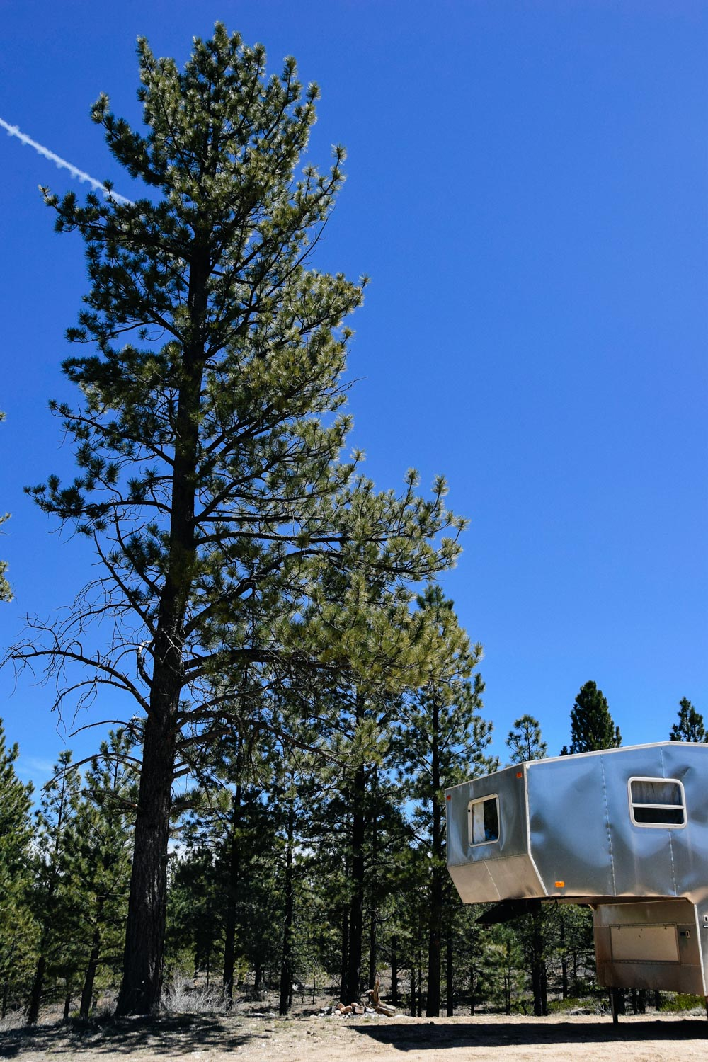 Our boondocking site at Whiteman Bench.