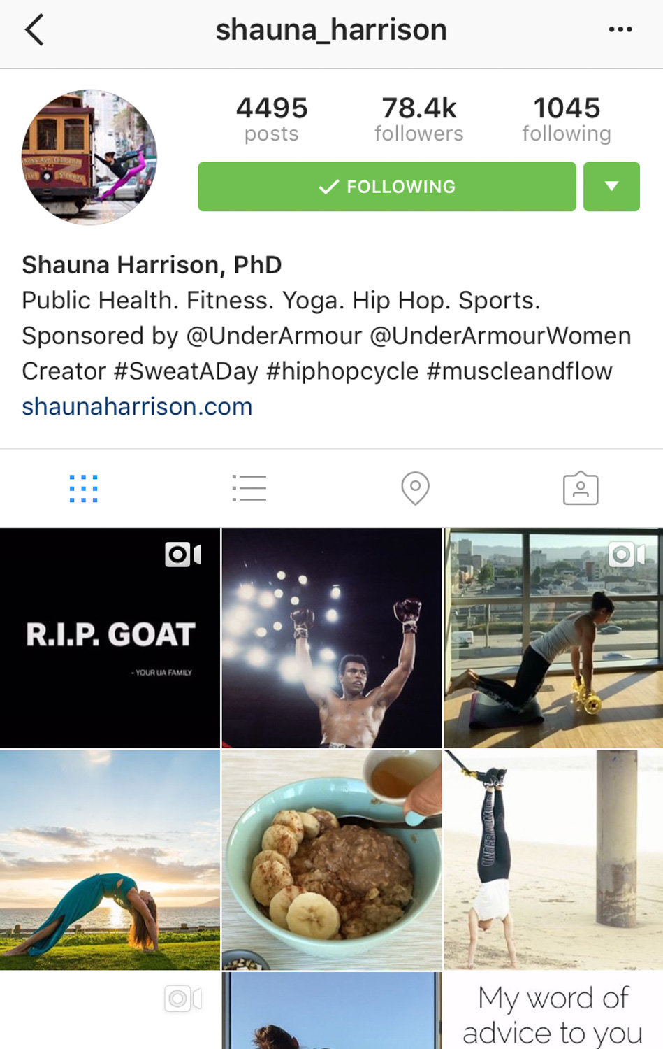@shauna_harrison's Instagram account.