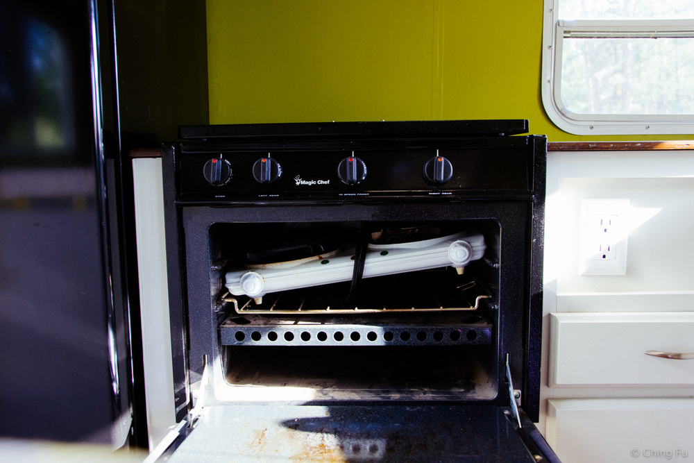 We used to store the electric cooktop along with cookie sheets in the oven.