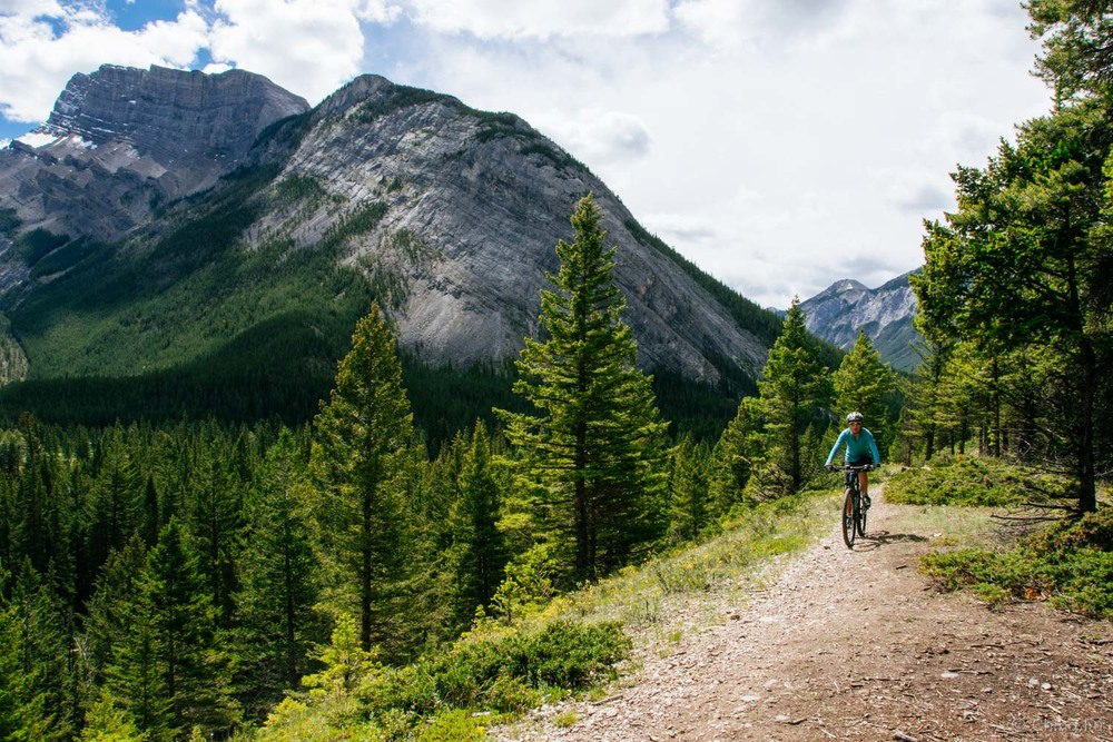 Although we wish we could mountain bike every day - with views like this!