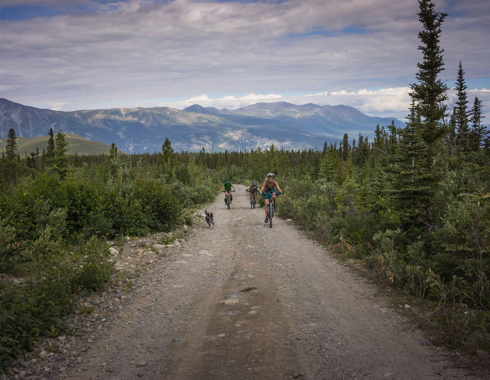 Riding Montana Mountain in Carcross, Yukon. Photo by Jason Liske.