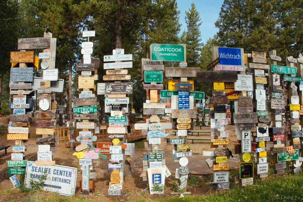 Watson Lake Sign Post Forest