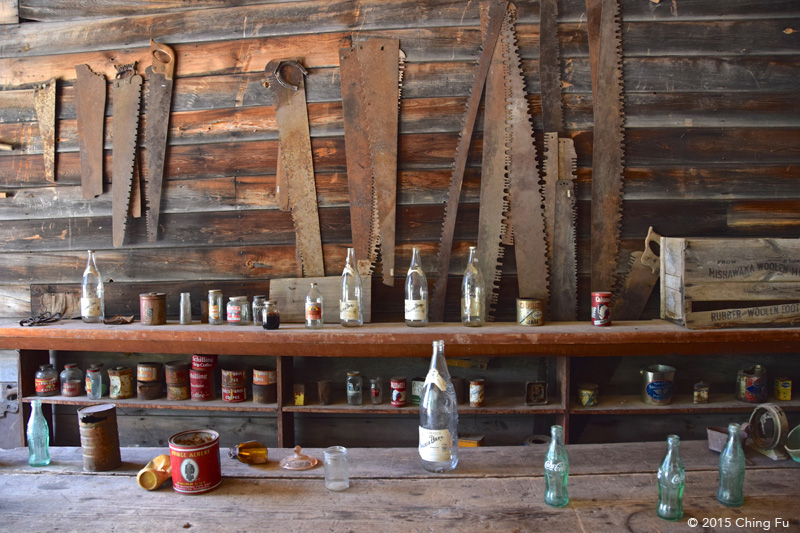 Frank A. Davey's general store in Garnet Ghost Town