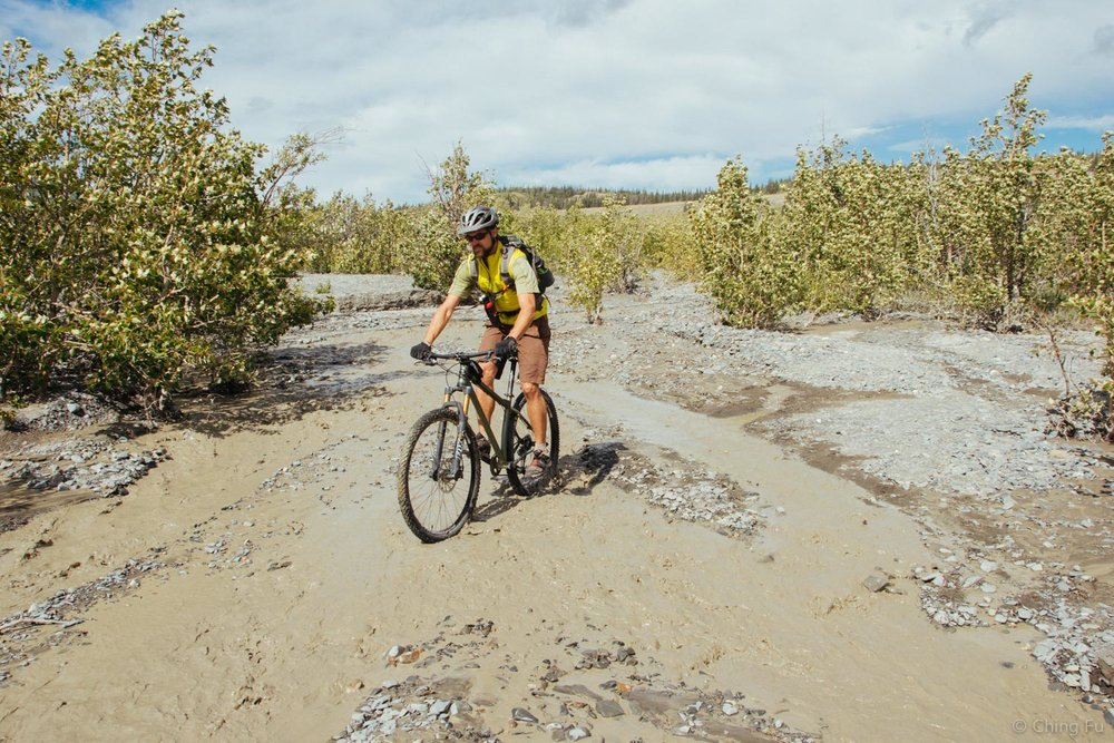 The ride in also required crossing numerous creeks due to all the rain the area got.