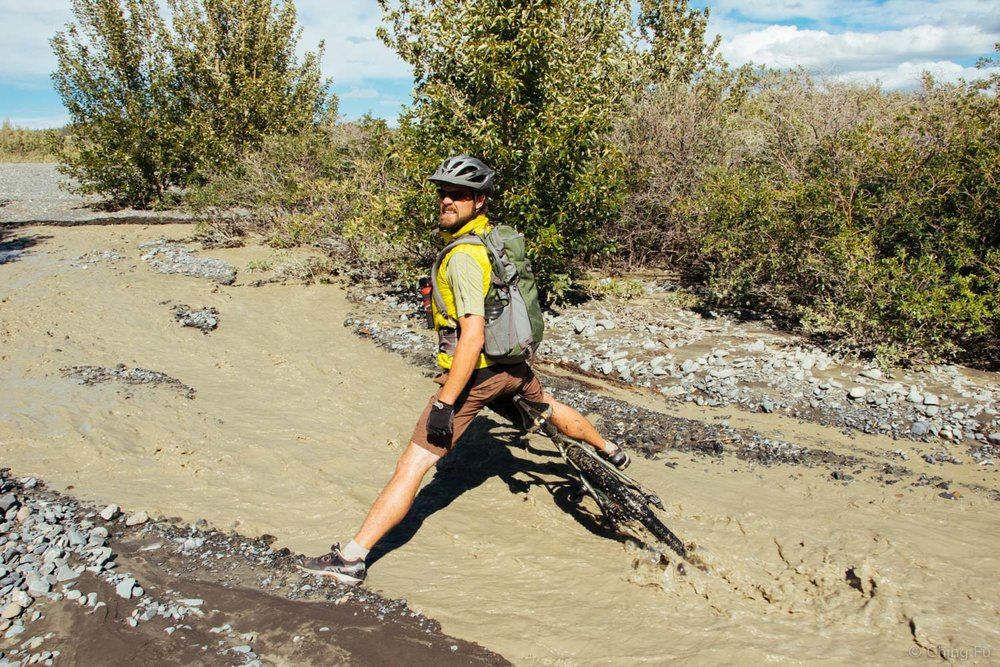 Some creeks were too deep and fast to ride through.