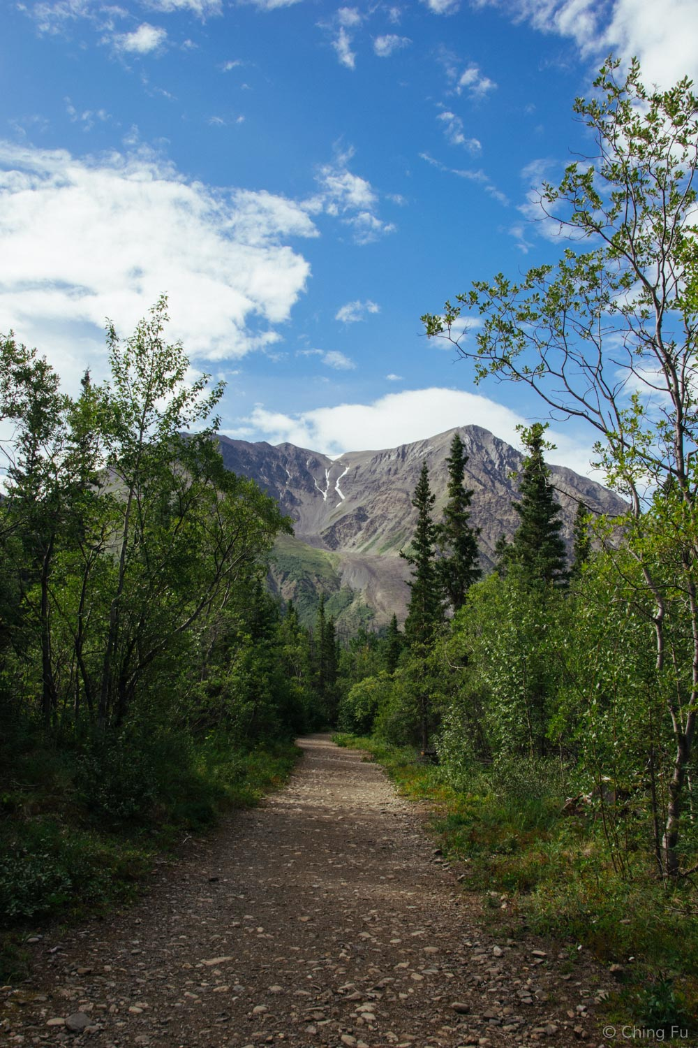 View on the hike in to the start of King's Throne trail.