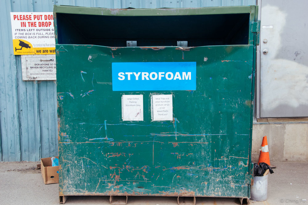 The recycling center in Yukon, Canada had an extensive recycling program and accepts styrofoam!