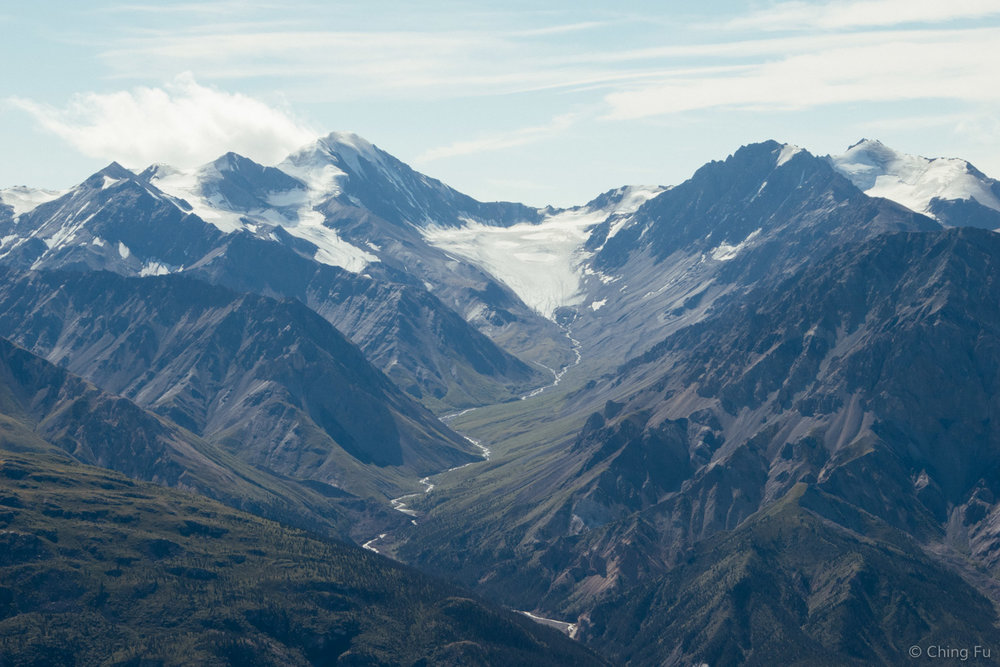 A glacier in Kluane National Park.