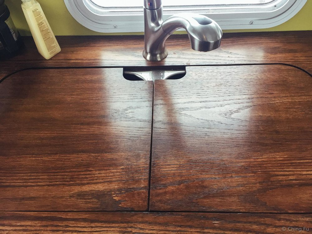 RV kitchen sink covers.