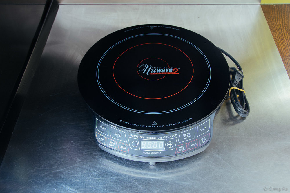 The first induction cooktop that we purchased.
