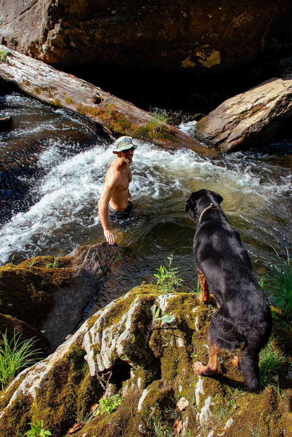 Tybee and Andrew at Chattooga River.