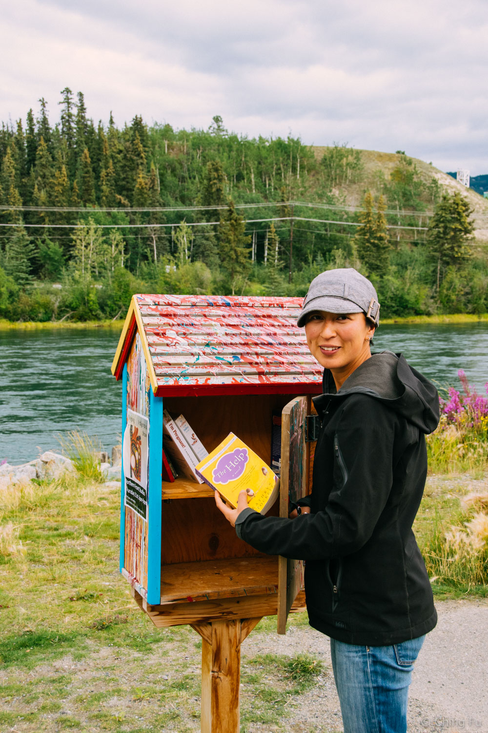 A Little Free Library in Whitehorse, Yukon. And I highly recommend reading  The Help . (I found the movie to be disappointing.)