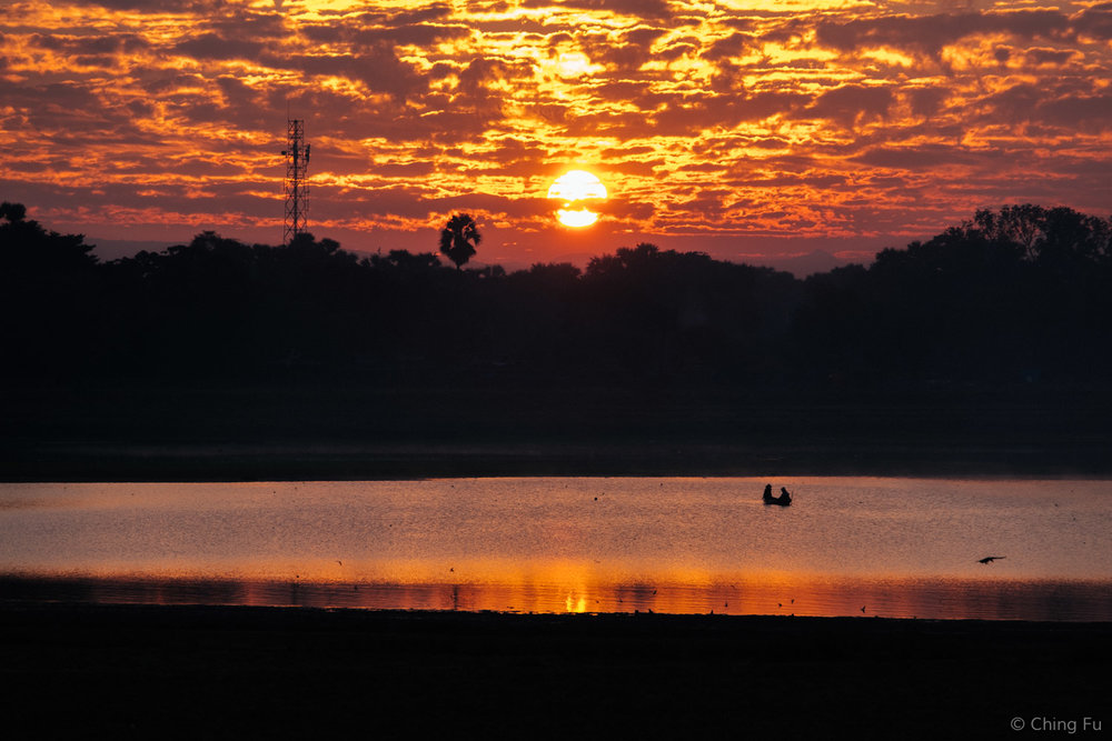 Sunrise from U Bein Bridge.