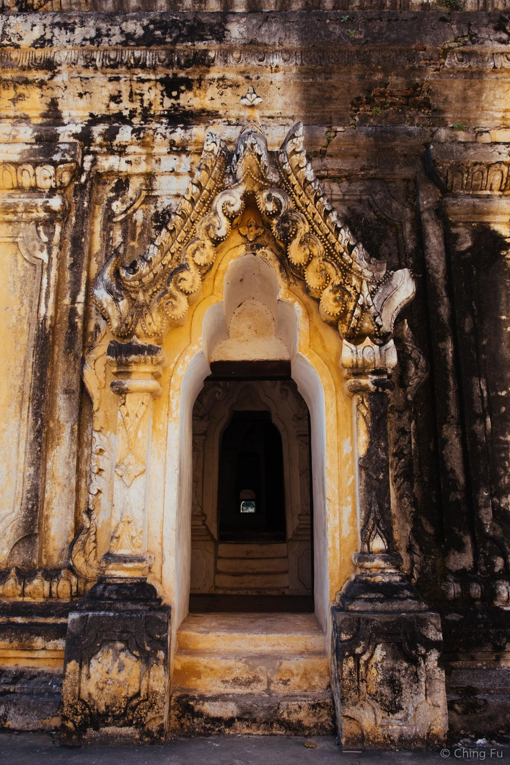 Doorway at Maha Aung Mye Bon Zan Monastery