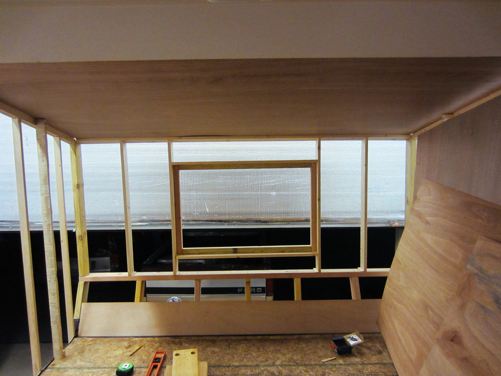 We decided to add a window above the bed.