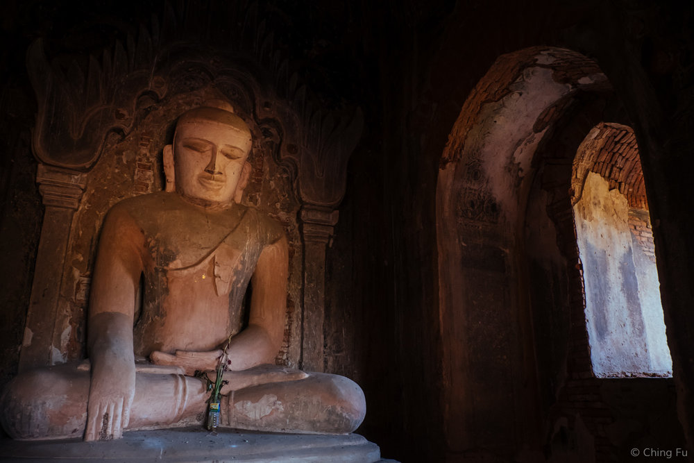 Buddha image in a Bagan temple.