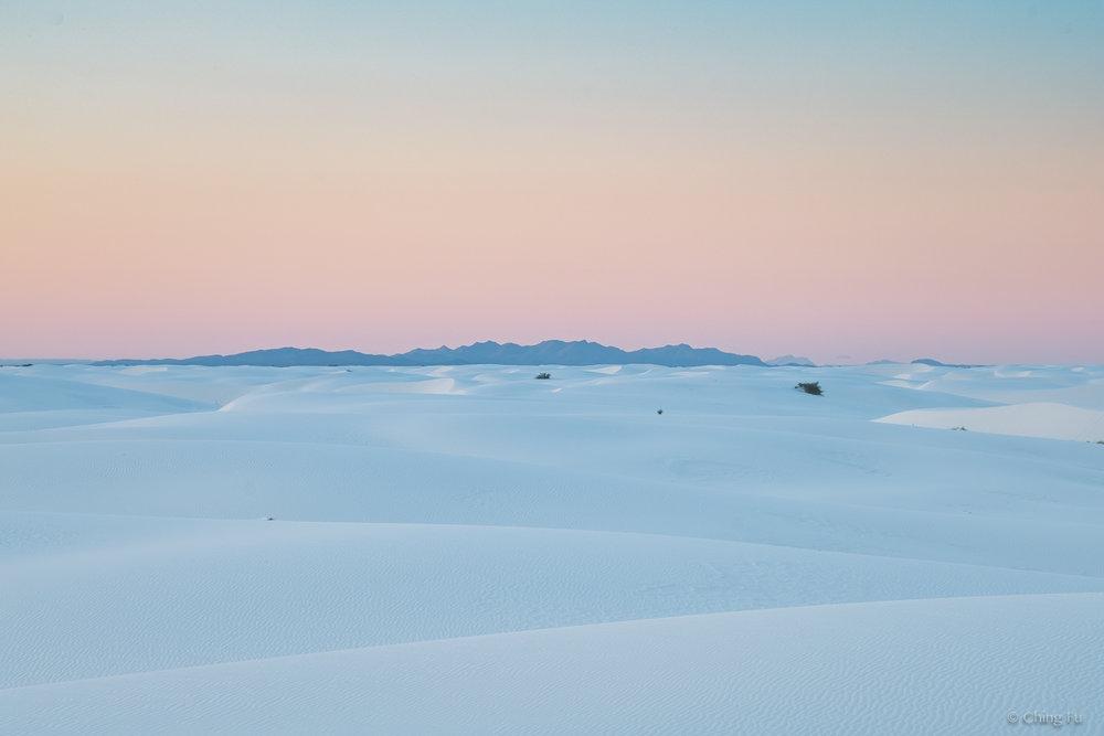 Sunrise at White Sands National Monument