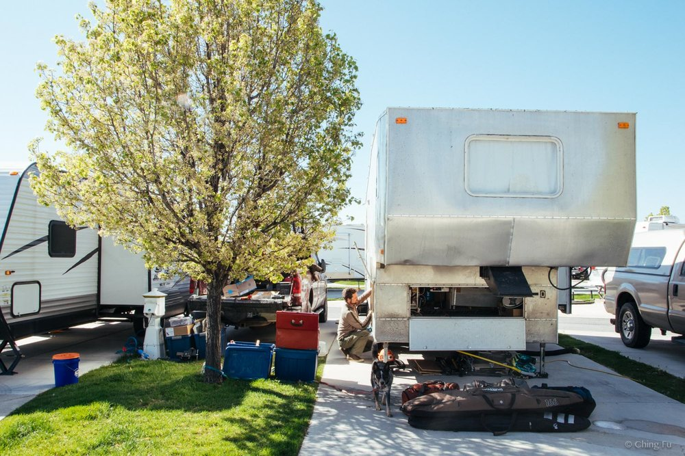 Toaster parked at an RV park in Salt Lake City.