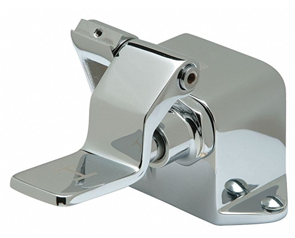 A  single-pedal foot valve  similar to the one we used.