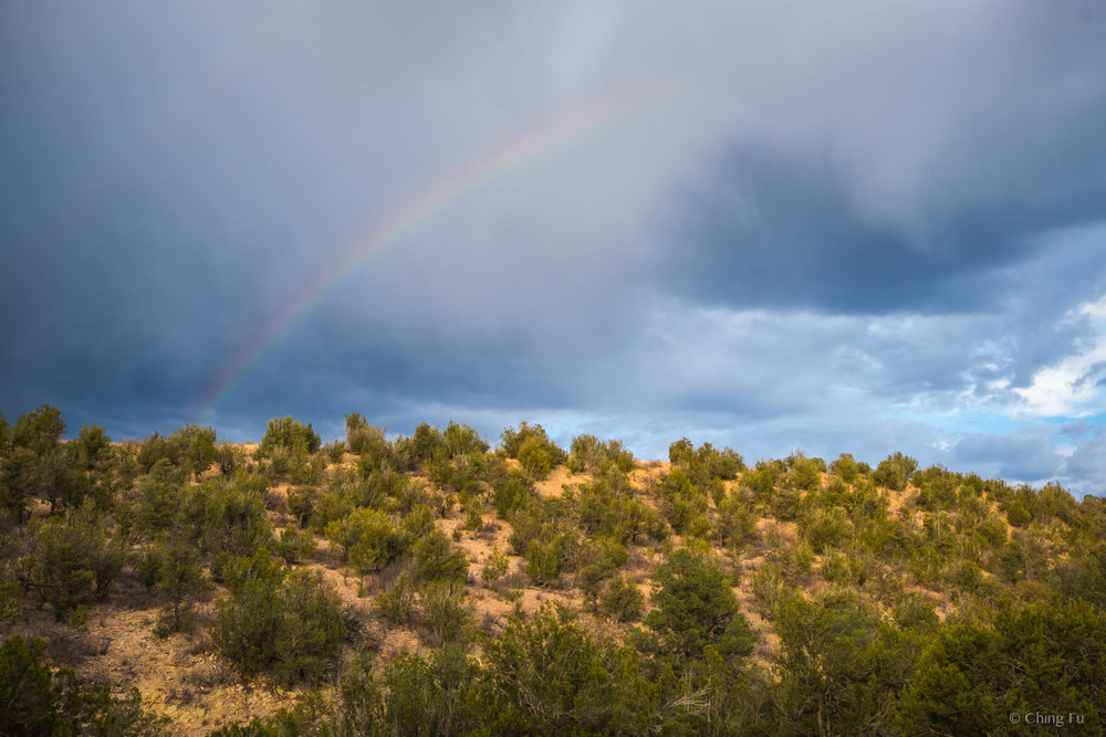 Rainbow over Fort Stanton-Snowy River Cave National Conservation Area.