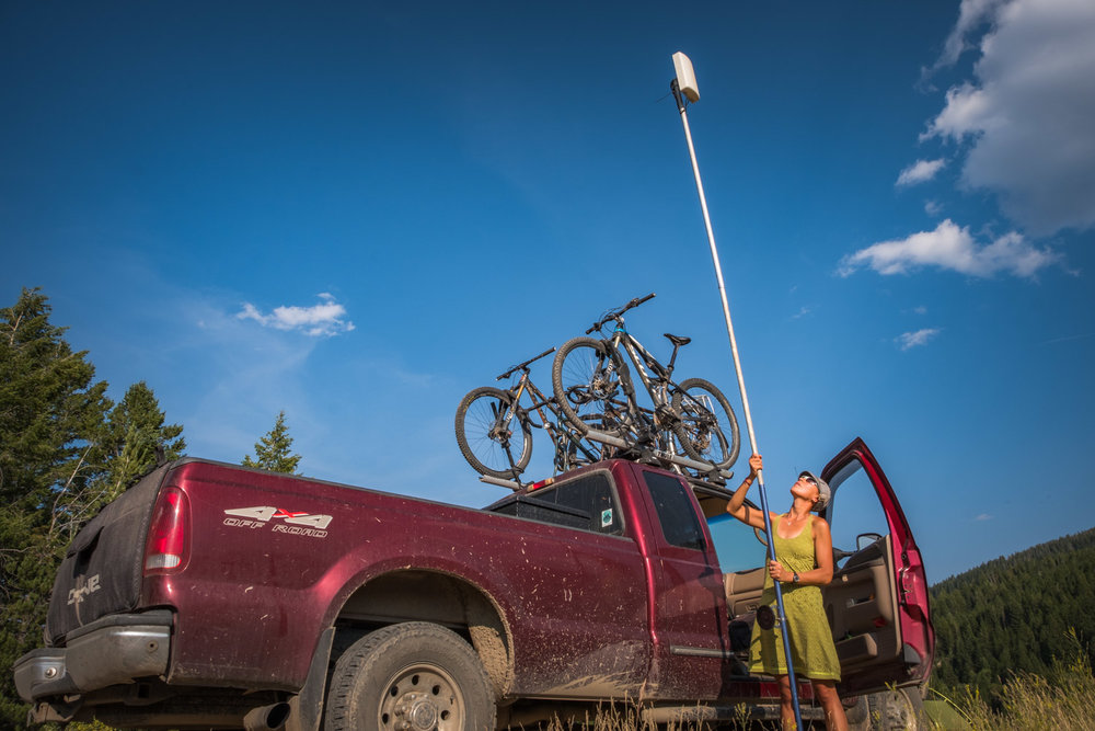 Sometimes, if we really want to stay at a boondock site that doesn't have any cell signal, we'll bring the Proxicast antenna with us just in case that helps the signal situation.