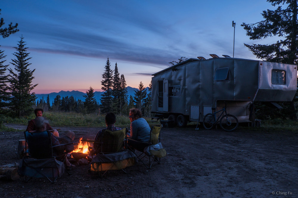 We rarely have campfires when we're boondocking, but sometimes it's nice to have one - if it's allowed.