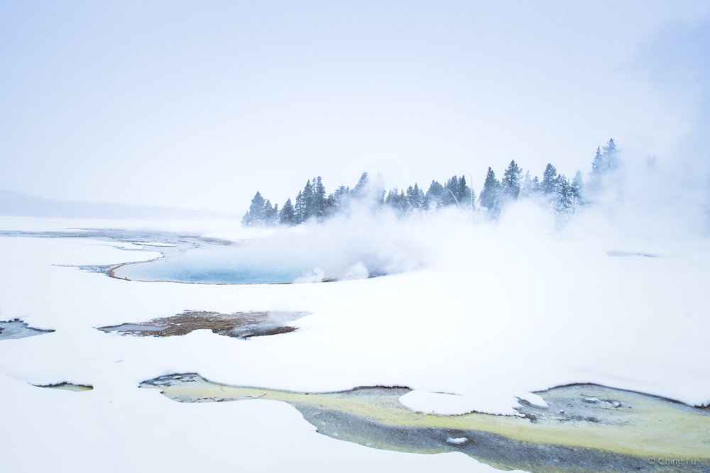 Fountain Paint Pots in Yellowstone National Park.