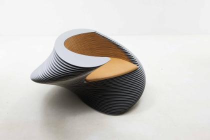 Kim Sang Hoon     Phenomena 2014-015, 2014    Luxteel, Wood   27.6h x 53.1w x 53.1d inches  (70.1h x 134.87w x 134.87d cm)